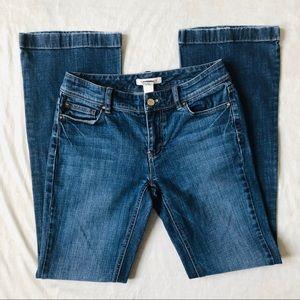 White House Black Market Blue Flare Jeans